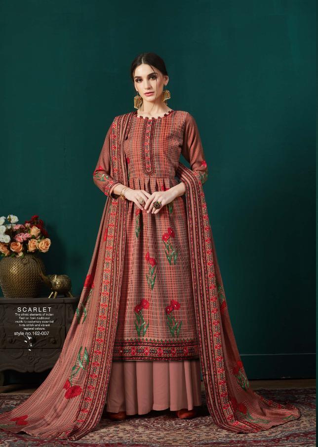 Catalog Fashion Mart Sargam Print Scarlet Pashmina Winter Woollen Salwar Kameez Catalog